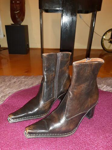 Zlatne sandalice perla br - Srbija: Polučizmice od prave kože,broj 38