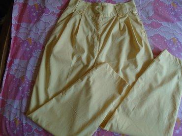 Limun žute, vintage, duboke pantalone, veličine 42. Nošene su - Beograd