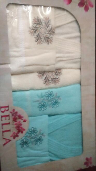 Наборы Турция ( 2 халата, 2 банных полотенца и 2 лицевые)