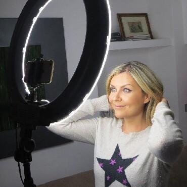 Аксессуары для фото и видео в Кыргызстан: Кольцевая led лампа для макияжа бишкек+подароксамый большой