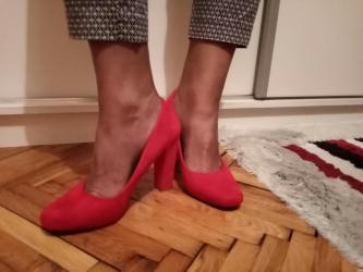 Crvene antilop cipele. Jednom obuvene,kao nove. Cena 1500 - Kovacica
