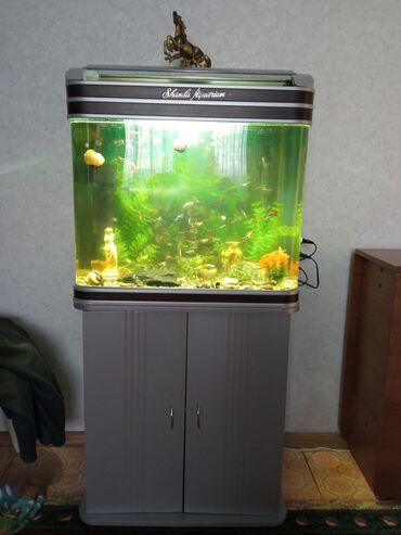 Заводской аквариум на 100 литров, всё целое без царапин, в полном