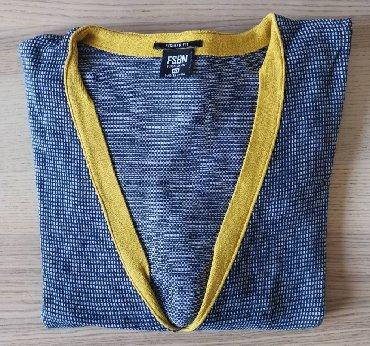 Kozni-kajis-sa-bodljama-duzine-cm - Srbija: FISHBONE plavi džemper sa V izrezom, veličina XXLFISHBONE džemper na