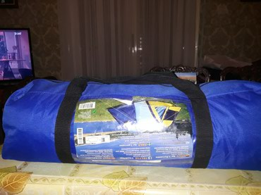 3-person camping tent with phosphorescent robs. Never used.Iin the σε Nea Smyrni