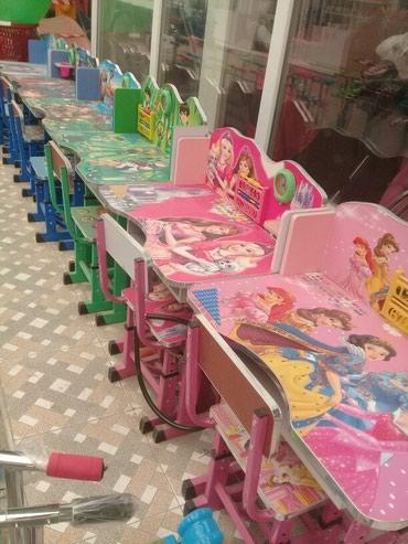 Xırdalan şəhərində Usaq stol stulu,tezedi,catdirilma var.Nil Group anbardan satis