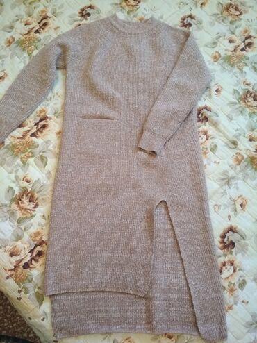 Очень теплое платье размер 42-44 почти новое цена 700сом тел