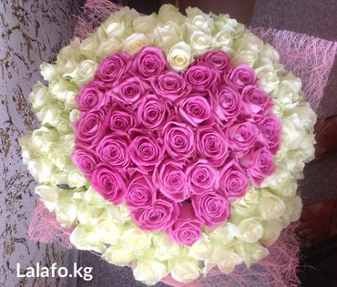 101 роза — это лучший способ сообщить, что ваше сердце открыто здесь и в Бишкек