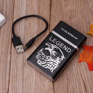 Tabakera - Srbija: Tabakera sa USB Upaljačem   Prenosivi dizajn kutije za cigaarete, povu