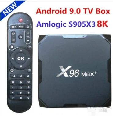 iq box сибирское здоровье в Кыргызстан: Акция! Тв box! Приставка x96max plus x3 android 9.0 - чёрный 4 гб
