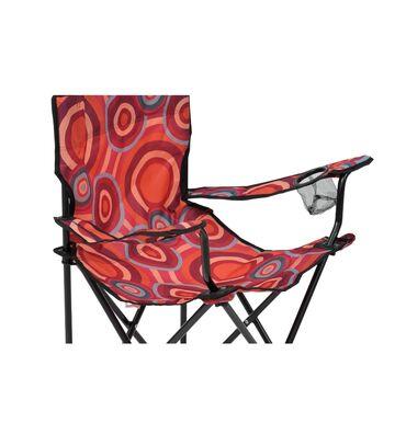 Sklopiva stolica sa roze narandzastim printom¤ crni metal¤ maximalna