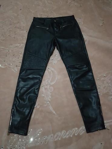 Женские джинсы в Кыргызстан: Кожанные штаны,размер 44 46