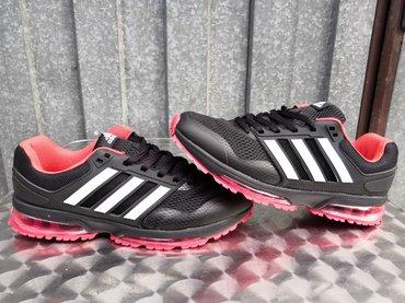 Adidas Crne Sa Crvenim Djonom-NOVO-41-46-Hit Model! - Nis