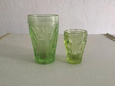 """Набор """"стакан, стопка"""" - зеленое стекло. в Бишкек"""