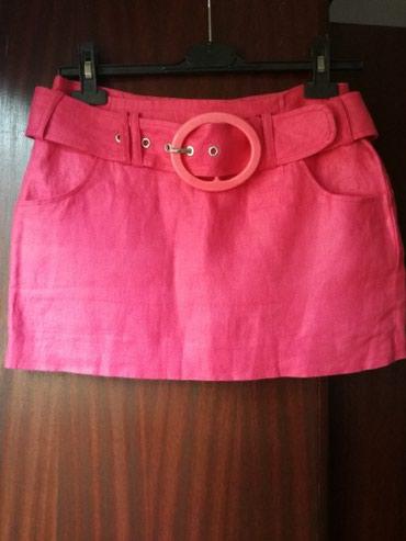 Divna lanena suknjica,obucena dva puta kao nova - Belgrade