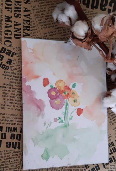 Haljina-ruze - Srbija: Akvarel