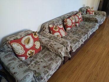 Диваны - Кыргызстан: Комплект из 4: два кресла, большой диван и маленький. Продаем без