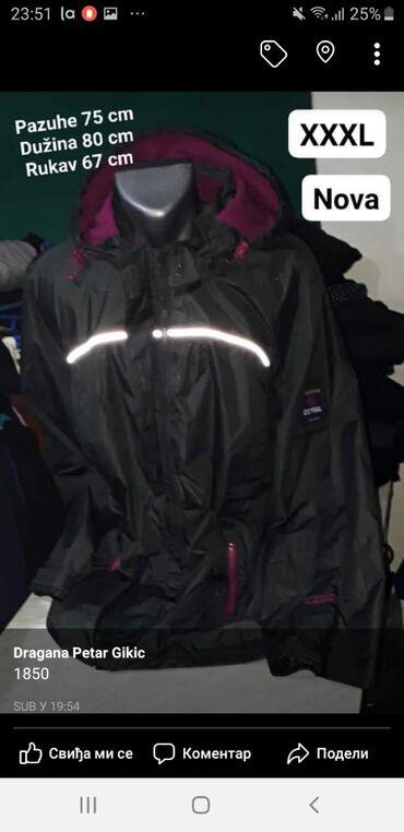 Nova jakna XXXL  Vodootporna  Kvalitetna  Tamno siva