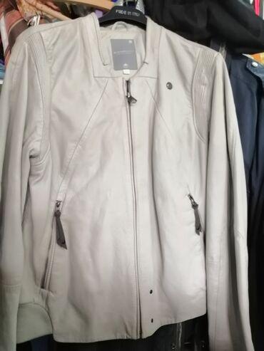 Kožna jakna siva vel L