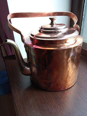 Продаю старинный медный чайник на 5-л