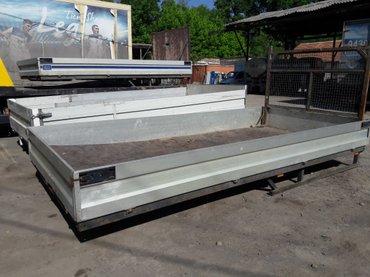 Кузов алюминиевый от спринтера 2шт. Размер: длина 4,5м, ширина 2.2м. в Бишкек