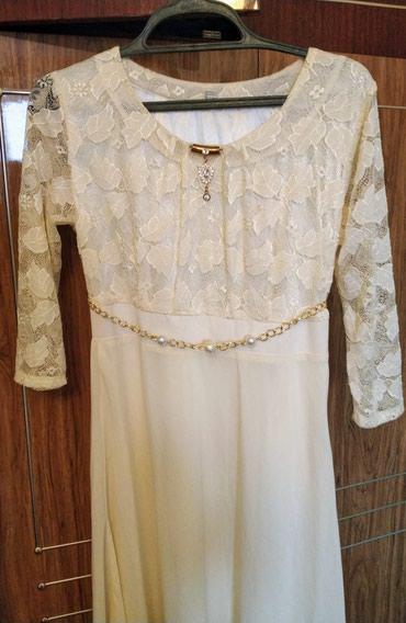 Красивое нежное платье можно на свадьбу 44 размер можно и 42 в Бишкек