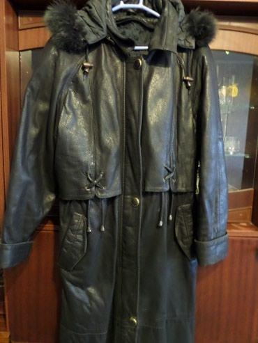 Женское пальто кожанное в Кант