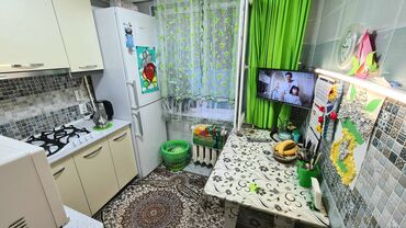 Продажа квартир - 2 комнаты - Бишкек: 104 серия, 2 комнаты, 49 кв. м С мебелью, Евроремонт, Кондиционер