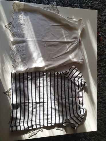 Dečiji Topići I Majice   Arandjelovac: Dve majice u kompletu Majica h&m vel 6-8  Majica bela vel 8