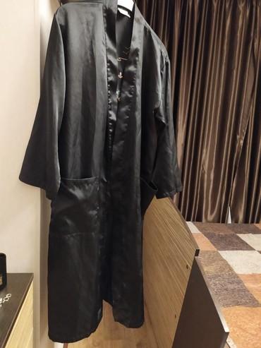 Черный атласный халат на 44-46р  в Бишкек