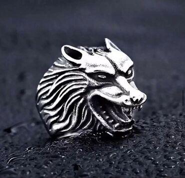 Мужская печатка «Харизма волка» Красивый дизайн Нержавеющая сталь