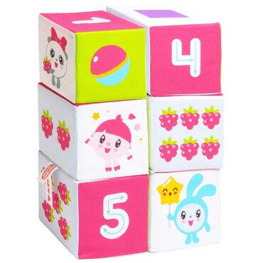 """Детский мир - Кант: 6 развивающих мягких кубиков размером 10х10 см """"Учим формы, цвет и счё"""