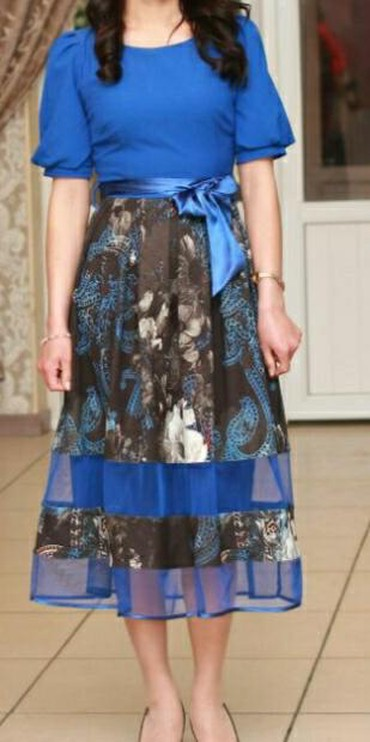 синее вечернее платье в Кыргызстан: Продаю вечернее платье.состояние отличное одевала один раз на