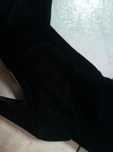 Μαύρη δερμάτινη μπότα σε Σέρρες - εικόνες 2