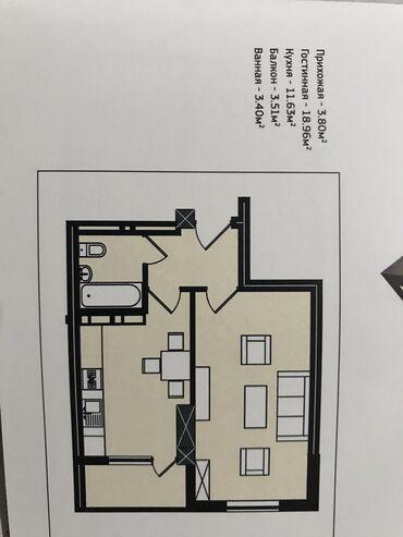 Срочно продаётся 1 ком квартира Этажность 8 этаж из 10, 42м2 Дом сдан
