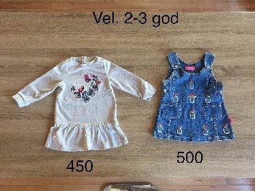 Decije haljine - Indija: Haljine za devojcice 2-4 god siva pamucna je prodata