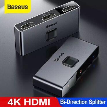 audi-quattro-21-20v - Azərbaycan: Baseus firmasinin original mehsul Hdmi splitter▶ Baseus HDMI Splitter
