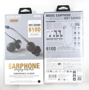 наушники polk audio в Кыргызстан: Новые!!! Оригинальные наушники(вакуумные) Remax Hifi Sound 610D