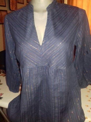 Mastilo plava tunika protkana zlatnim nitima ...3/4 rukav....38 - Loznica