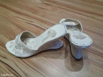 Ženska obuća | Futog: Papuce sa vezom 38 br,ima malu gresku na stikli