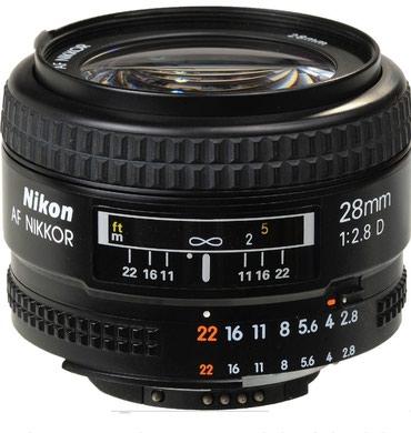 Продаю объектив nikon 28mm f2.8 D в Бишкек