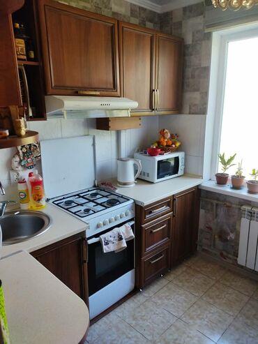 Продажа квартир - Лоджия застеклена - Бишкек: 104 серия, 2 комнаты, 48 кв. м Бронированные двери, С мебелью, Кондиционер