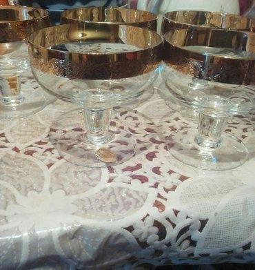 Чешское стекло,Креманки богемия.новые в Бишкек