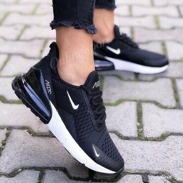 Ženska patike i atletske cipele | Velika Plana: Crno bele Nike 270 zenskee  Udobne, lake, ekstra stoje🥰  41  2800 din