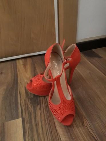 Crvene sandale Štikla 12 cm - Belgrade