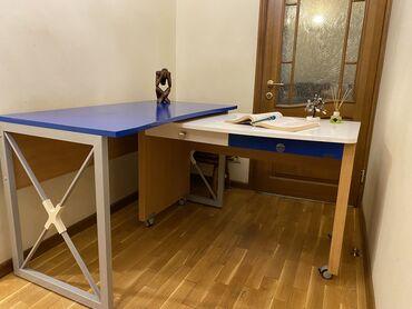 шредеры 12 14 на колесиках в Кыргызстан: 2 стола по цене 1!!!- Очень удобные письменные столы 2-в-1 в стиле