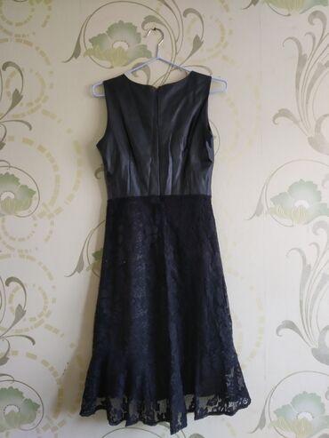 платье с кружевным верхом в Кыргызстан: Платье, кожаный верх, низ с кружевной вставкой. Покупали в Бишкеке