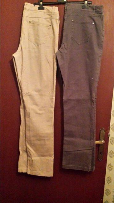 Krem i braon zenske pantalone. Jako udobne. Italijanske. Vel 46 - Veliko Gradiste