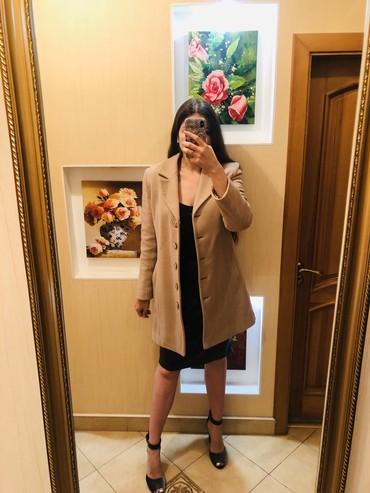 приталенное пальто в Кыргызстан: Кашемировое пальто   Теплое демисезонное пальто. Фасон классический, н