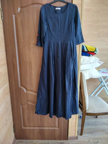 Продаю длинное платье в мелкий горошек Турция классно сидит брала за 4