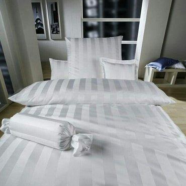 Отельное постельное белье. 100% хлопок. Полуторки. Расцветки, белый и  в Бишкек